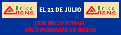 FERIA DE MÁQUINAS BOSCH EN BRICO AITANA!!!!
